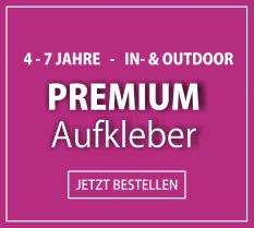 4-7 Jahre - In- & Outdoor - Premium-Aufkleber