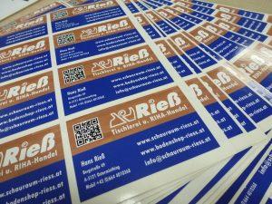 beispiel für gedruckte aufkleber bzw. etiketten