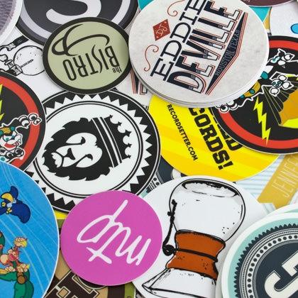 Aufkleber Sticker Shop