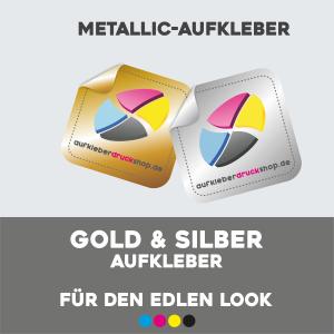 Gold und Silber Aufkleber für den edlen Look