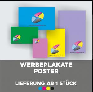Werbeplakate Poster - Lieferung ab einem Stück!